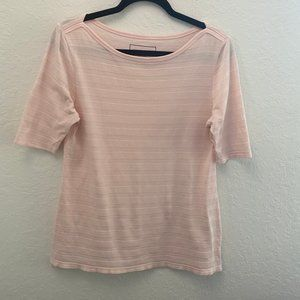 Charter Club Pima Cotton Textured Tee Size Small